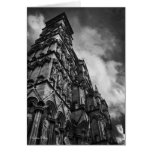 Gothic Facade, Salisbury Cathedral blank notelet Cards