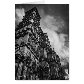 Gothic Facade, Salisbury Cathedral blank notelet Card