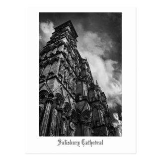 Gothic Facade, Salisbury Cathedral postcard