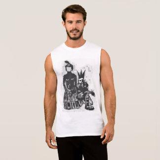 Gothic Faceless Woman and Punk Guy Sport Shirt Men