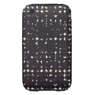 Gothic Faded Black Grunge Vintage Cross Pattern Tough iPhone 3 Covers