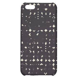 Gothic Faded Black Grunge Vintage Cross Pattern iPhone 5C Case