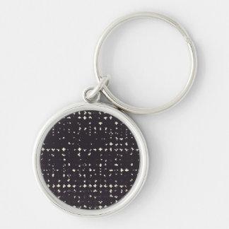 Gothic Faded Black Grunge Vintage Cross Pattern Key Chain