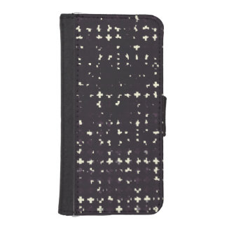Gothic Faded Black Grunge Vintage Cross Pattern Phone Wallet Case