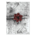 Gothic Faded Red Floral Wedding Accessories set Invitation