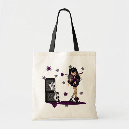 Gothic Faerie with Skull Guitar Tote Bag