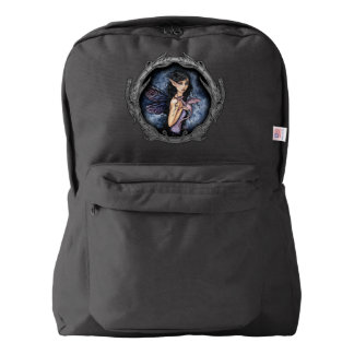 Gothic Fairy and Dragon Fantasy Art Backpack