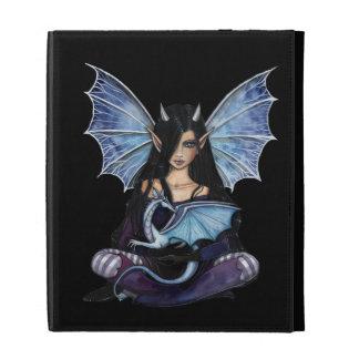 Gothic Fairy and Dragon Fantasy Art iPad Folio Cover