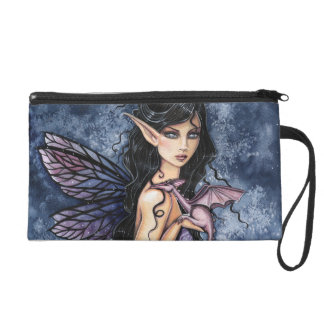 Gothic Fairy and Dragon Fantasy Mini Clutch Purse Wristlets