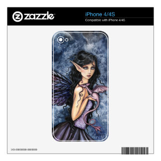 Gothic Fairy and Dragon Iphone 4S Skin