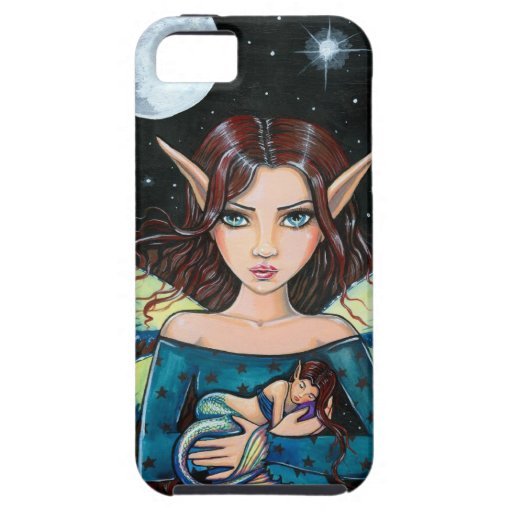 Gothic Fairy and Mermaid Art by Molly Harrison iPhone 5 Case