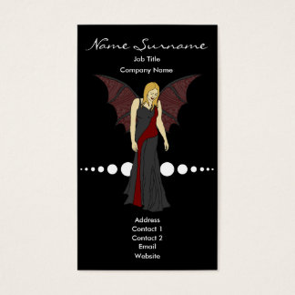 Gothic Fairy, business card template