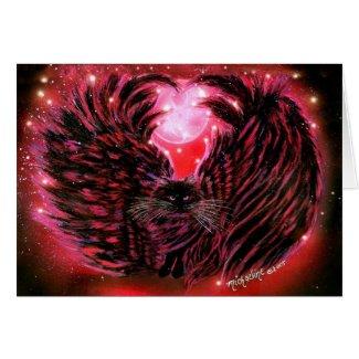Gothic Fairy Cat Card