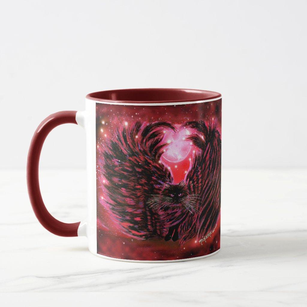 Gothic Fairy Cat Mug