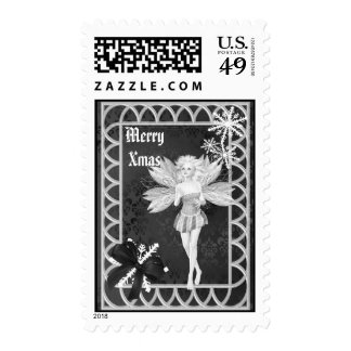 Gothic Fairy christmas Postage Stamp