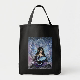 Gothic Fairy Dragon Grocery Tote Bag