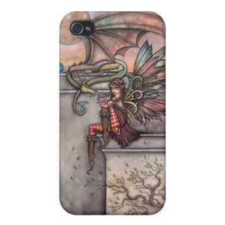 Gothic Fairy Dragon iPhone Case by Molly Harrison iPhone 4 Case