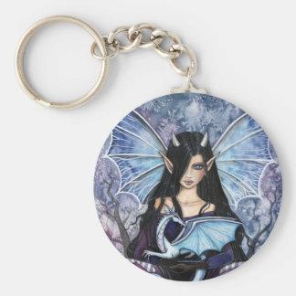 Gothic Fairy Dragon Keychain by Molly Harrison
