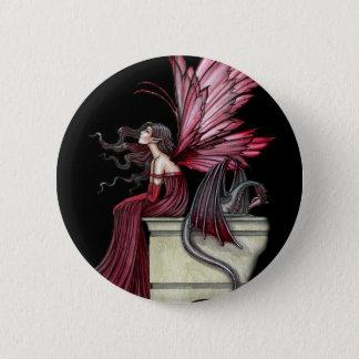 Gothic Fairy Dragon Pin, Button