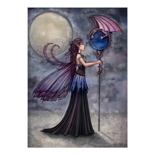 Gothic Fairy Dragon Poster Print by Molly Harrison