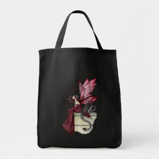 Gothic Fairy Dragon Tote Bag by Molly Harrison
