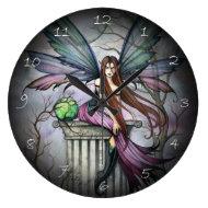 Gothic Fairy Fantasy Art Wall Clock