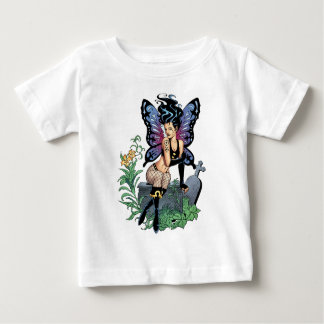 Gothic Fairy Grave Sitting with Tears by Al Rio Baby T-Shirt