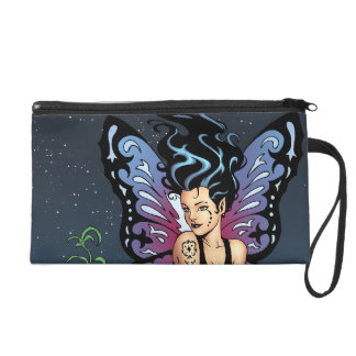 Gothic Fairy Grave Sitting with Tears by Al Rio Wristlet
