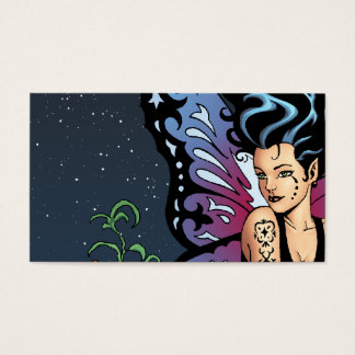 Gothic Fairy Grave Sitting with Tears by Al Rio Business Card