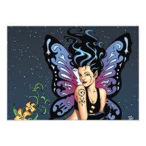 goth, gothic, fairy, fairies, wings, grave, tombstone, headstone, tears, brunette, al rio, thomas mason, r i p, art, Invitation with custom graphic design