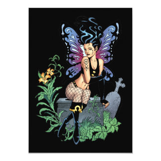 Gothic Fairy Grave Sitting with Tears by Al Rio Card