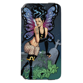 Gothic Fairy Grave Sitting with Tears by Al Rio iPhone 6/6s Wallet Case