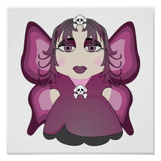 Gothic Fairy In Pink Poster