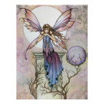Gothic Fairy Moon Celestial Poster Print