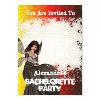 Gothic fairy personalized bachelorette party card