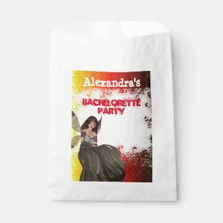 Gothic fairy personalized bachelorette party favor bag