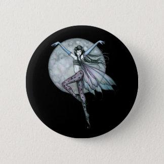 Gothic Fairy Pin, Button Full Moon Fairy