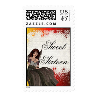 Gothic fairy sweet sixteen postage