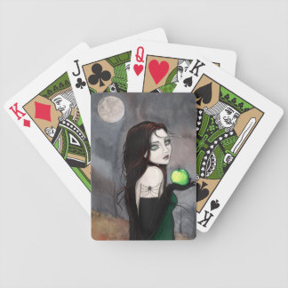 Gothic Fantasy Art Woman with Apple Bicycle Playing Cards