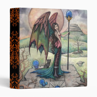 Gothic Fantasy Fairy and Cat Art Binder
