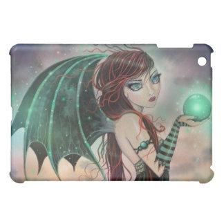 Gothic Fantasy Vampire Fairy in Green iPad Case