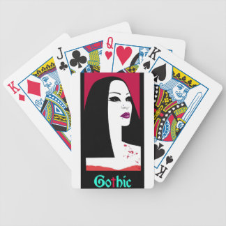 GOTHIC FASHION BICYCLE PLAYING CARDS