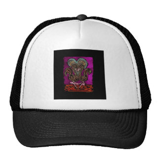 Gothic Flamingo Love neon black boarder Trucker Hat