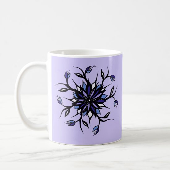 Gothic Floral Mandala Monsters And Teeth Coffee Mug