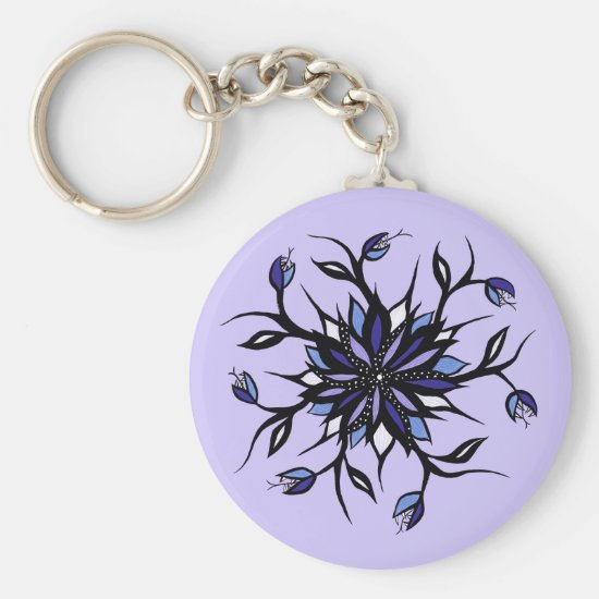Gothic Floral Mandala Monsters And Teeth Keychain
