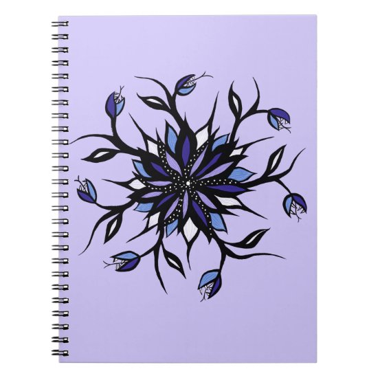 Gothic Floral Mandala Monsters And Teeth Notebook