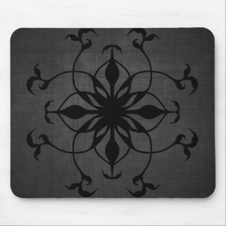 Gothic flower in black and gray mouse pad
