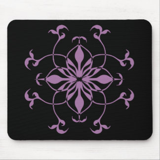 Gothic flower purple and black mouse pad