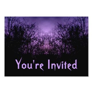 Gothic forest fantasy invitations for your text