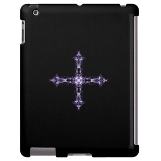 Gothic Fractal Purple Cross
